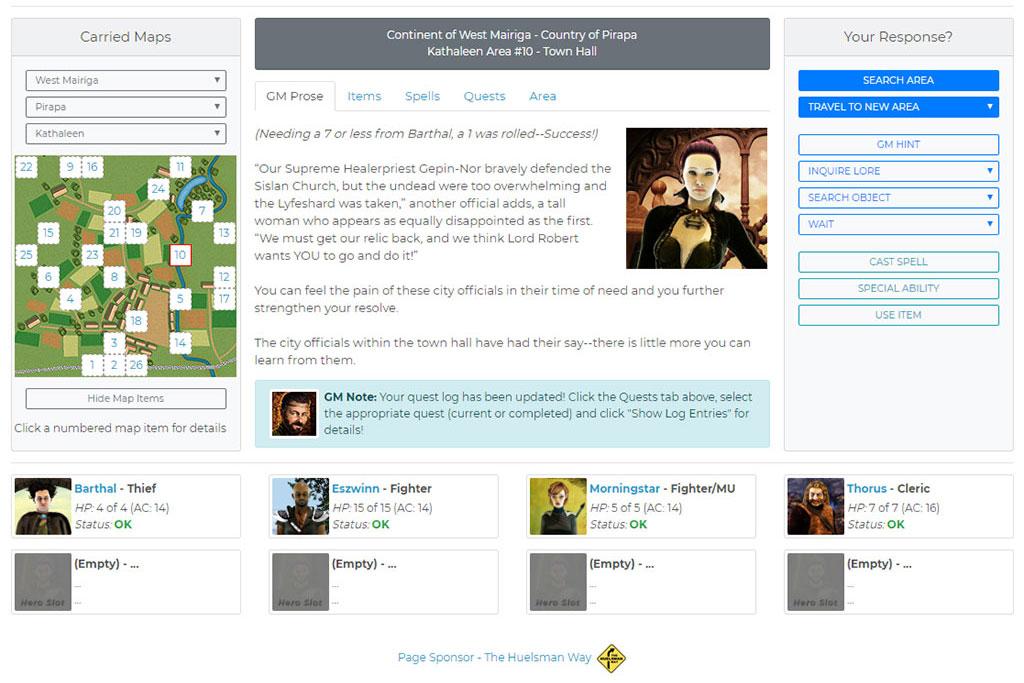 BrowserQuests Online RPG