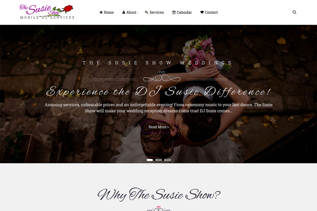 Susie Show Weddings Website