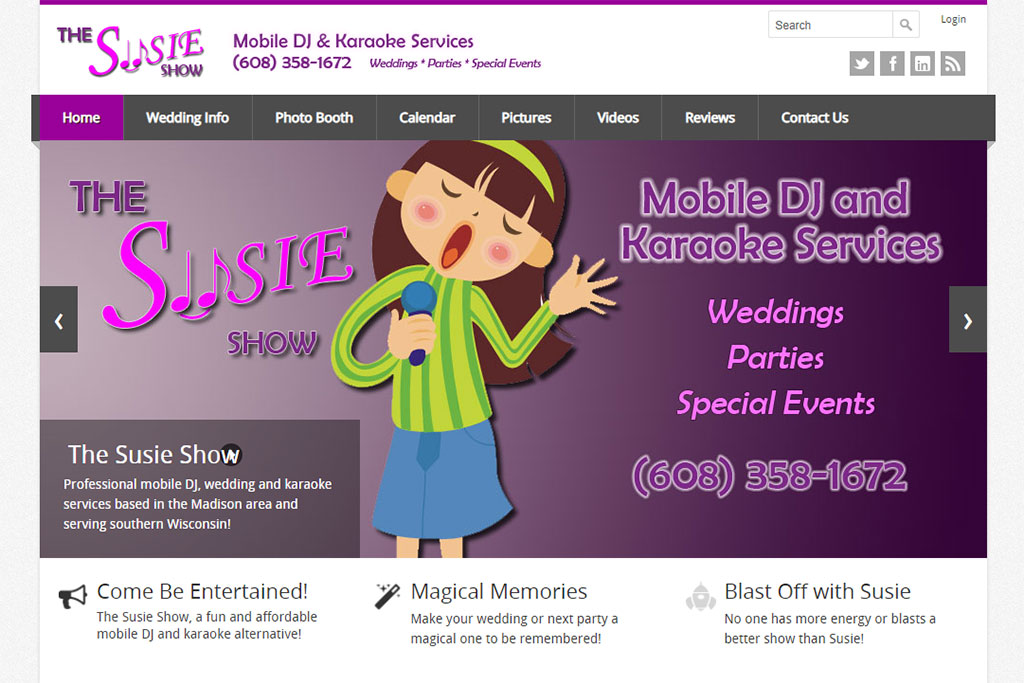 The Susie Show Website