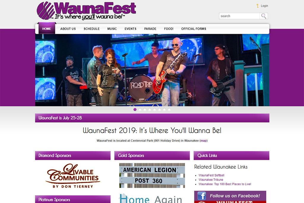 WaunaFest Website