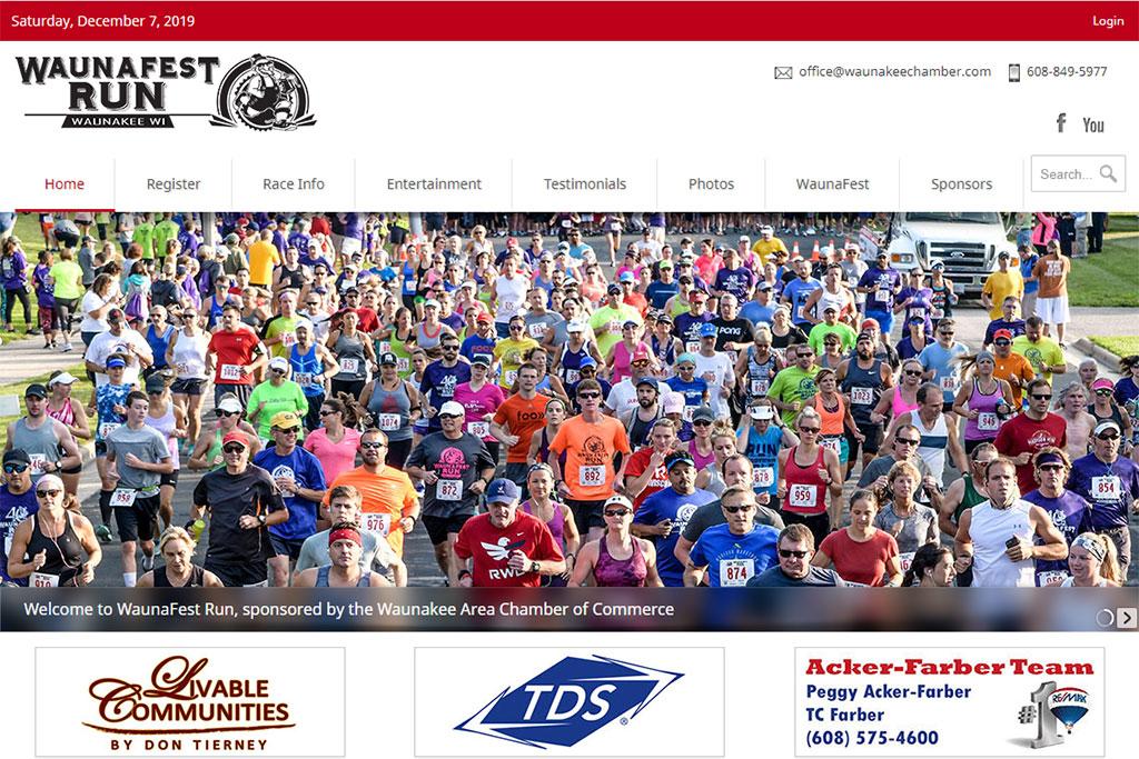 WaunaFest Run Website
