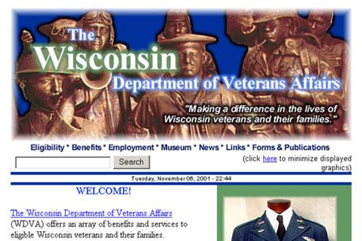 WI Dept. of Veterans Affairs Website